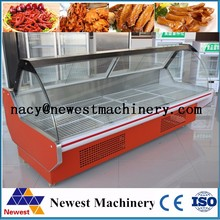 Fresh meat refrigerated display case/meat cooler display case/food display refrigerator