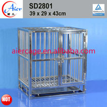 stainless steel small pet cages for dogs