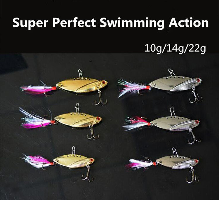Metal Material 10g/14g/22g Fly Fishing Lures VIB