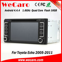 New Arrive A9 Fast CPU android 4.4.4 car stereo dvd For Toyota Echo 2010 GPS navigator TV Radio tuner CD Player