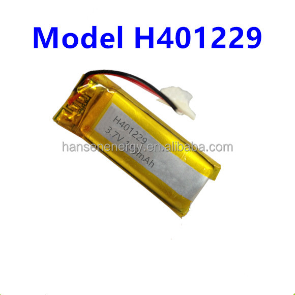 3.7v 110mah lithium polymer battery rechargeable battery 401229