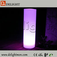 China supplier outdoor ip65 glowing 16 color wireless control led cylinder wall lights
