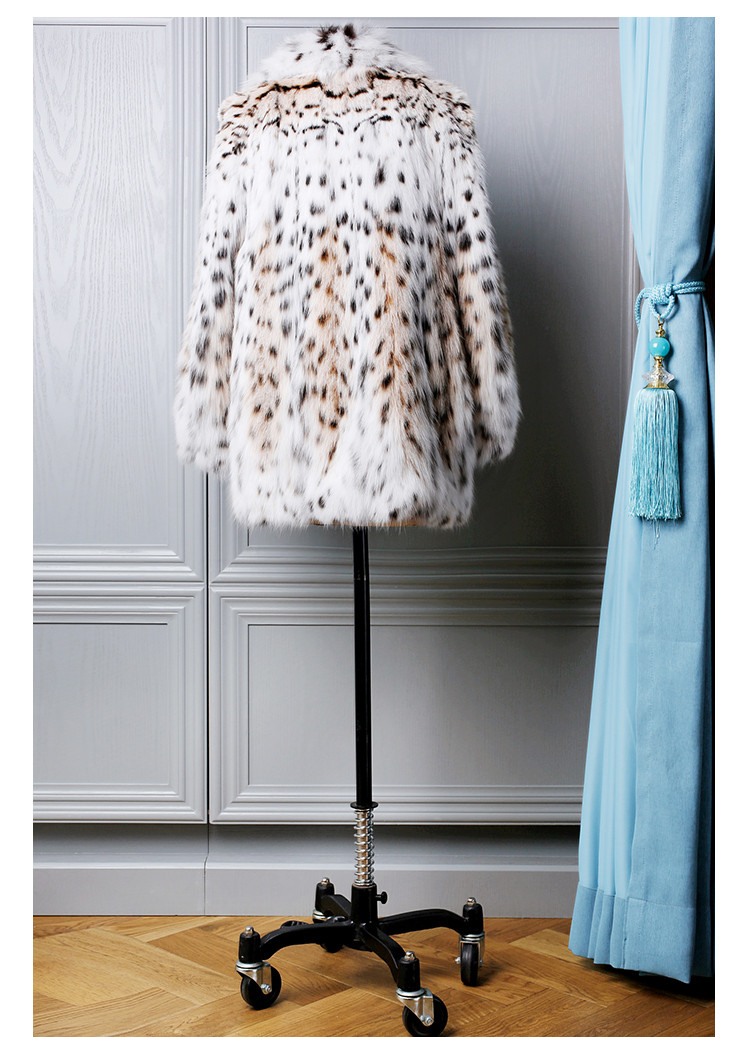 Fashion Style Luxury Lynx Fur Coat