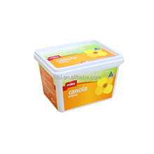 500g IML PP Plastic Material and Storage Boxes Type Butter Tubs, Plastic Butter Container With Thin Wall Packaging Square Shape