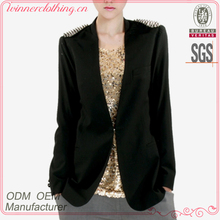 Hot sale fashion design factory direct long sleeve blazer women fashion