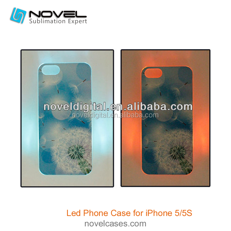 2D Sublimation LED Phone Case For iPhone5/5s