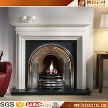 high quality factory direct supply stone fire place freestanding marble fireplace cover