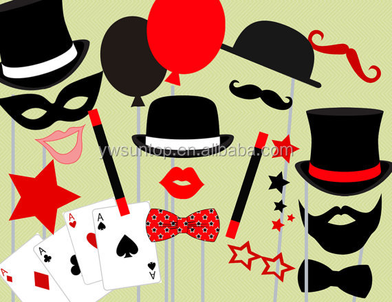 23piece Magician Photo Booth Party Props