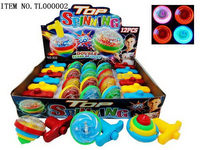 Best quality updated plastic spinning top toy