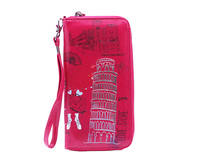 Hot Lady Wallet New Popular Printed Clutch Bag /Cheap Tourist Souvenir PU leather Printed lady wallet
