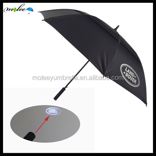 Novelty New Design Umbrella with Light Projection on Handle Logo