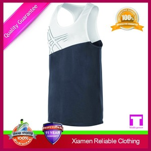 Wholesale plus size blank gym mens stringer tank top for mens/custom gym singlets