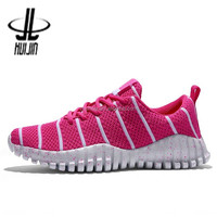 Cheap Wholesale Running multiple sizes mesh vamp pink used women sports shoes