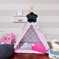 2016 Custom indoor kids play camping cotton canvas tipi tent children teepee
