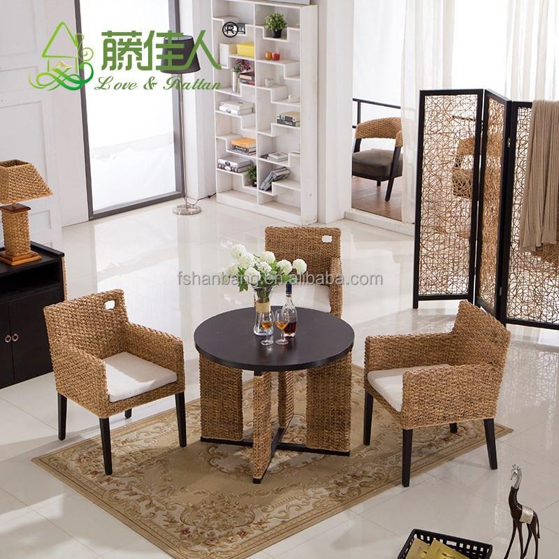 hohe qualit t china hersteller indoor rattan seegras sofa m bel set im garten produkt id. Black Bedroom Furniture Sets. Home Design Ideas