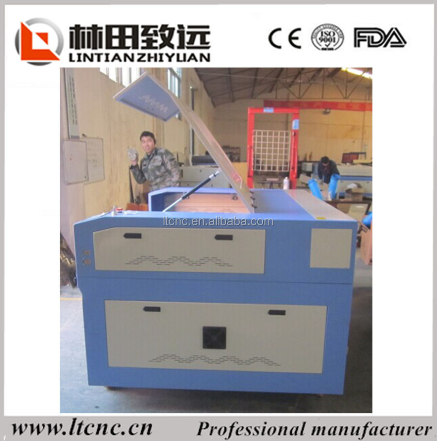 Good price high effiency laser mat board wood art cutting drilling machine