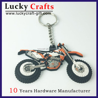 Hot sale 3d pvc rubber motorcycle keychains