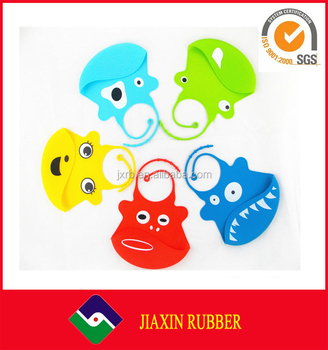 Animal Pattern FDA Rubber Washable Waterproof Silicone Toddler Baby Bib