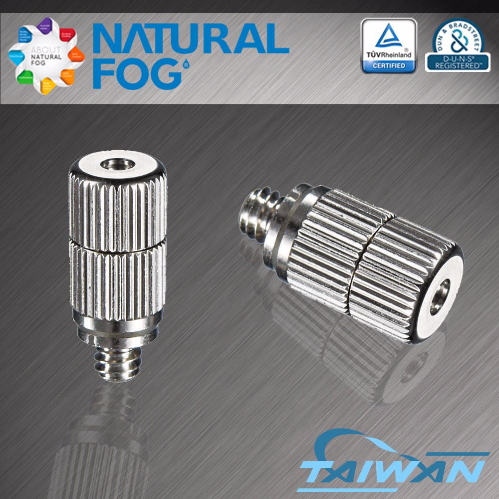 Natural Fog Cleanable Hollow Cone Spray Humidifying Stainless Steel Fog Nozzle