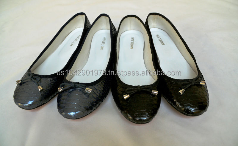 Handmade Genuine Exotic Python Snake Skin Leather Ballet Flats Shoes