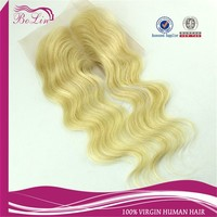 Brazilian Hair Closure Middle Parting Lace Closure Blonde