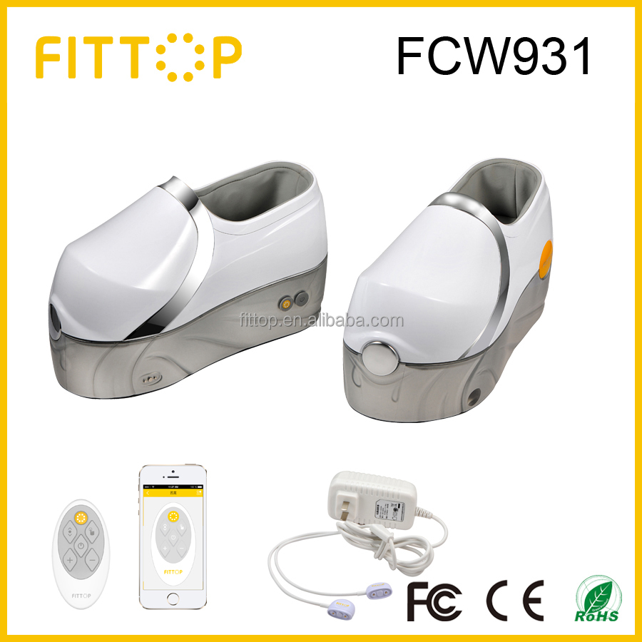 Home use electric foot massage machine with wireless remote and smartphone APP control