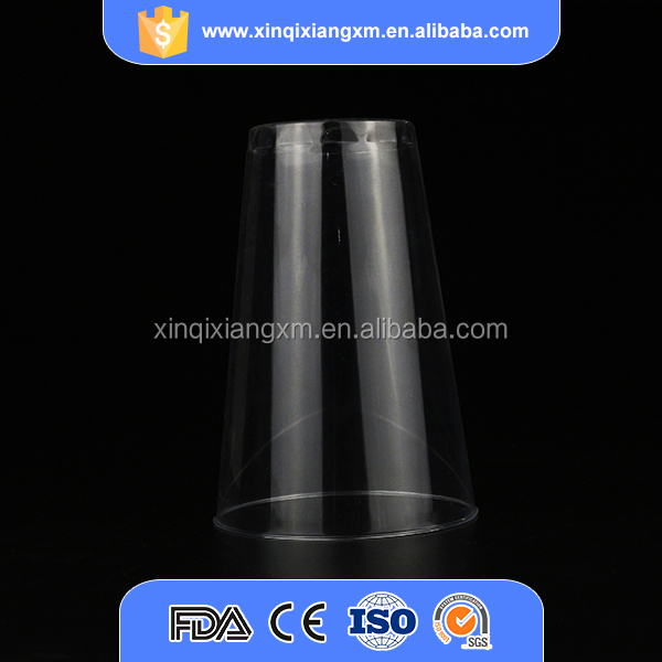 Factory wholesale promotional clear 14 oz 400ml plastic ps cup