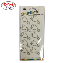 Fork shape metal unique different kinds paper clips for decorative