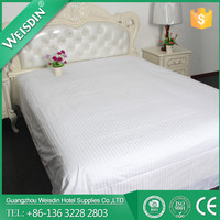 Wholesale satin stripe 100% cotton fabric hospital bed sheet