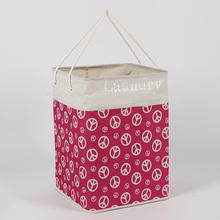 foldable hamper folding polyester laundry bag washing basket