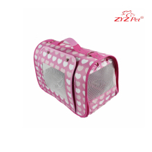 cute heart pattern pink pet carrier bag for dog cat and other small pets