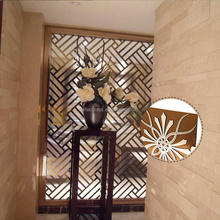 Factory Supply Decorative Pattern Design Art Glass Using A Patented Titanium Coating Process