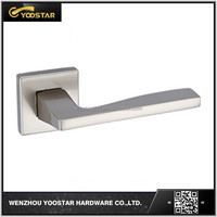 Beautiful design square rose zinc door handle