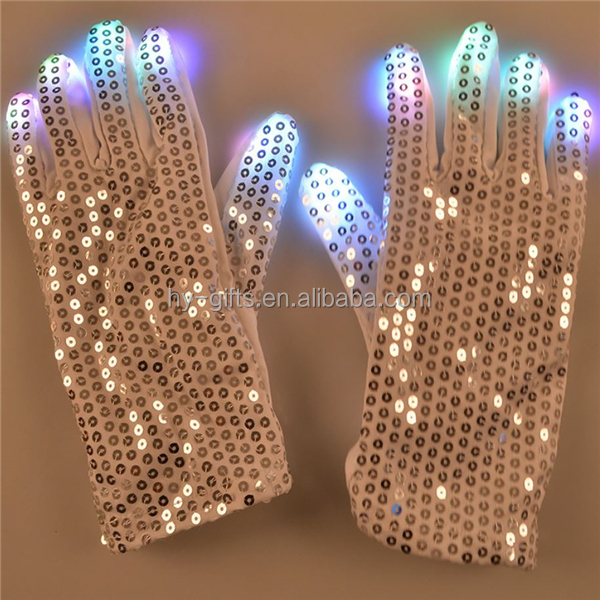 LED Party Black Flashing Gloves/party led gloves/wedding glowing gloves