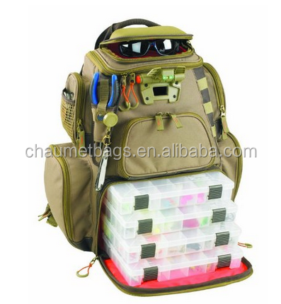 High quality multi-fuction fishing backpack