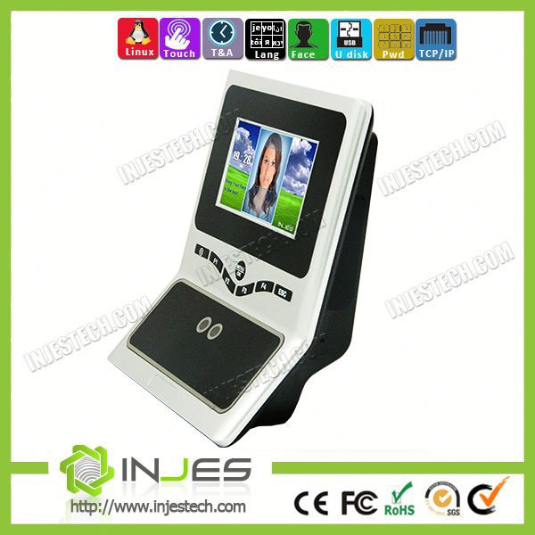 4.3inch Display TCP IP Based Face Recognition Attendance Security Solutions