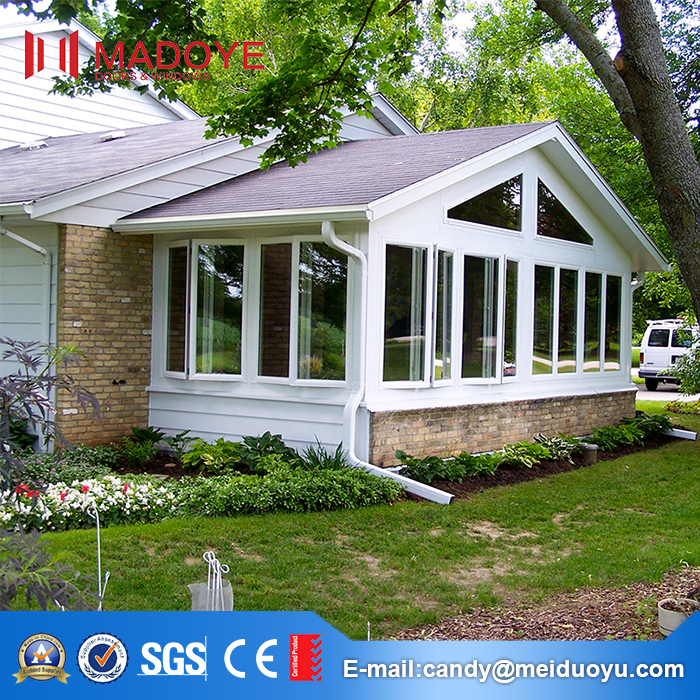Europe style aluminum glass 3 season sunroom patio enclosures