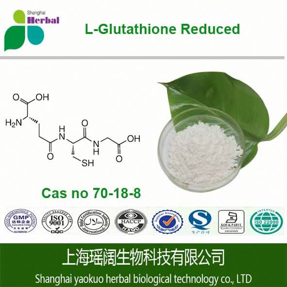 Factory price supply High quality 99% API-L-Glutathione Reduced fine powder CAS 70-18-8 Glutathione