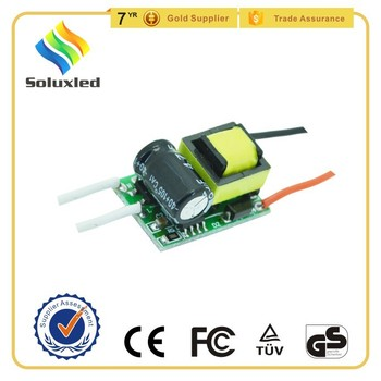 90-260V Input Voltage constant current 300ma led driver 3W isolated
