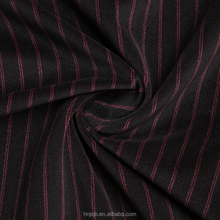 Haining Hot Sell Stripe Printed Stretch Jersey Fabric 100% polyester material for cloth