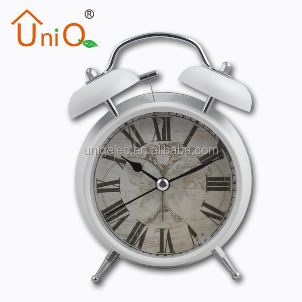 Classical Two bell metal mini table alarm clock