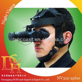 Optical night vision monocular with helmet for hunting