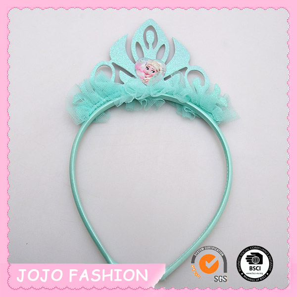 New Frozen Alice Headband Plastic Lace Blue Princess Crown headband/