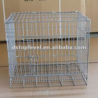 Folding steel dog cages
