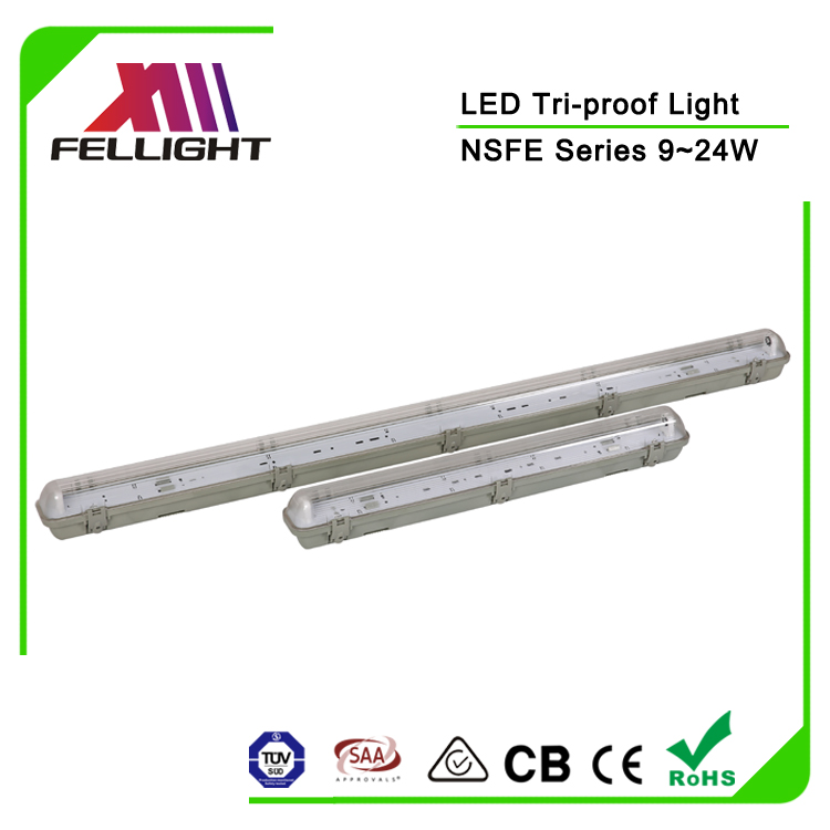 2ft 2*9W T8 tube lighting fixture wall mounted led water-proof damp-proof