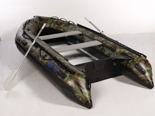 1.2mm PVC camouflage inflatable boat with aluminum floor