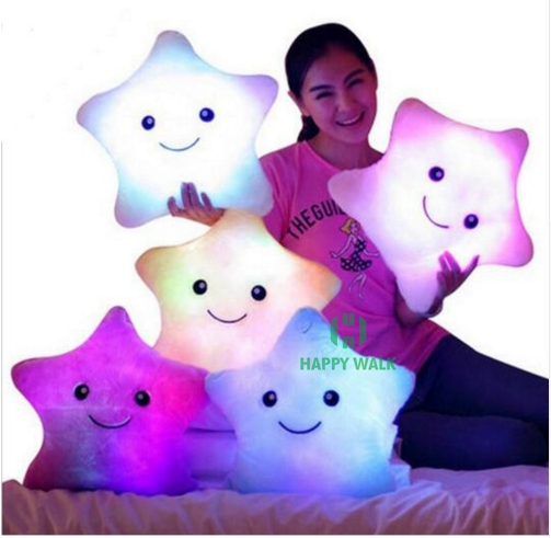 HI CE best selling kids night light toys battery operated led light star plush toy for sale