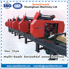 2 Heads multi-heads diesel engine portable sawmill for wholesales