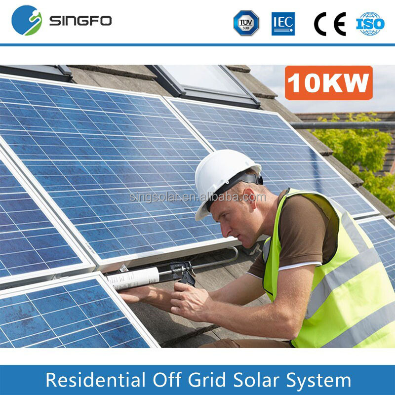 High Efficiency Energy Saving Ground Mounting Grid Tied 10KW Solar Power System Power Generating System
