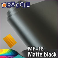 1.52X30m Car Decoration Matte Black Vinyl Car Wrap